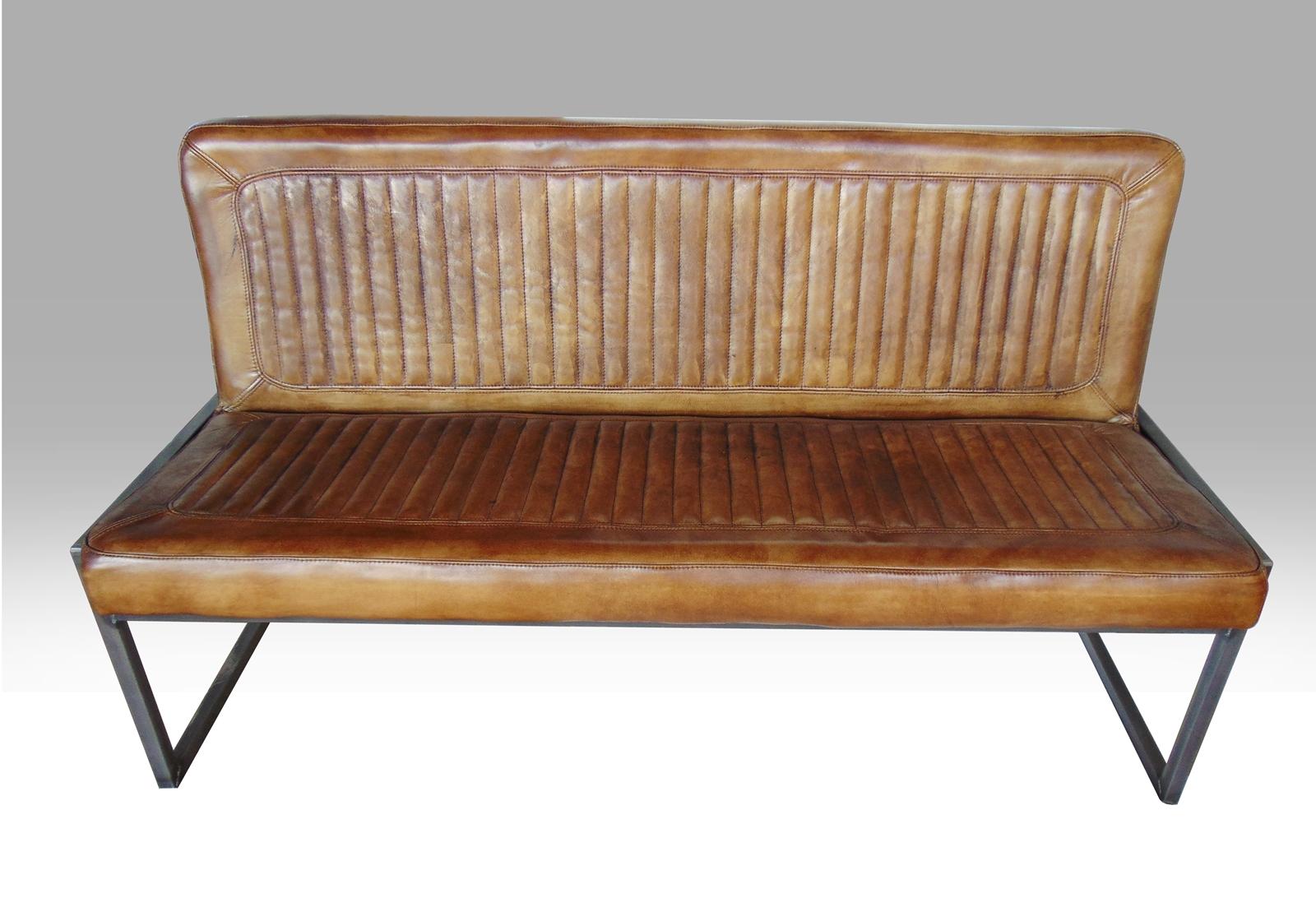 b ffelleder sitzbank mit r ckenlehne altholzmoebel. Black Bedroom Furniture Sets. Home Design Ideas