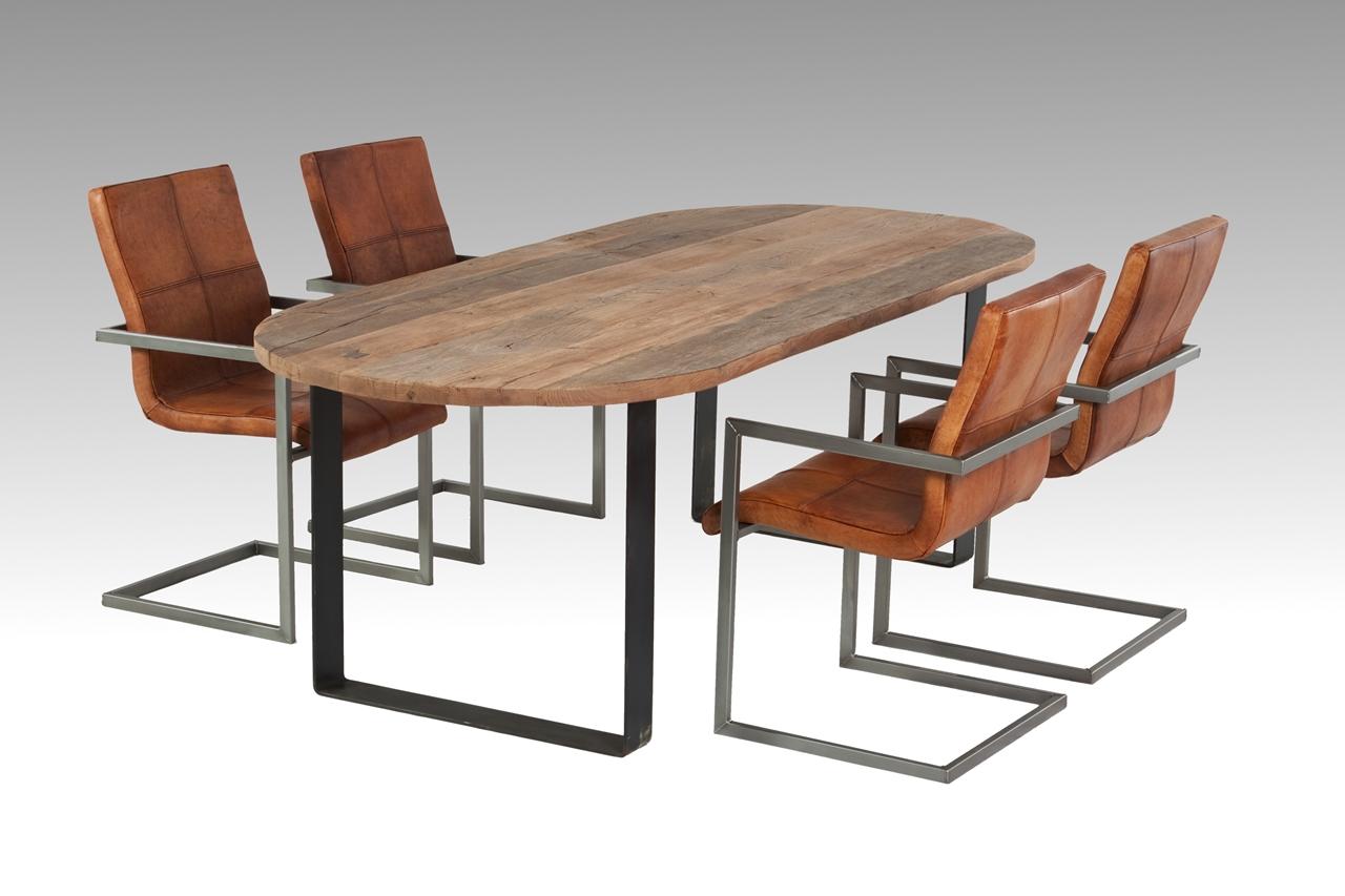 Esstisch Altholz Stahl ~ Massiver Eichentisch nach Maß gefertigt ET001  altholzmoebeleichede
