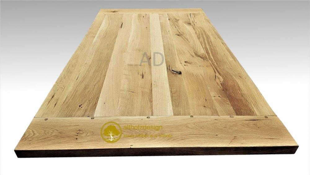 Tischplatte aus altem Eichenholz - altholzmoebel-eiche.de