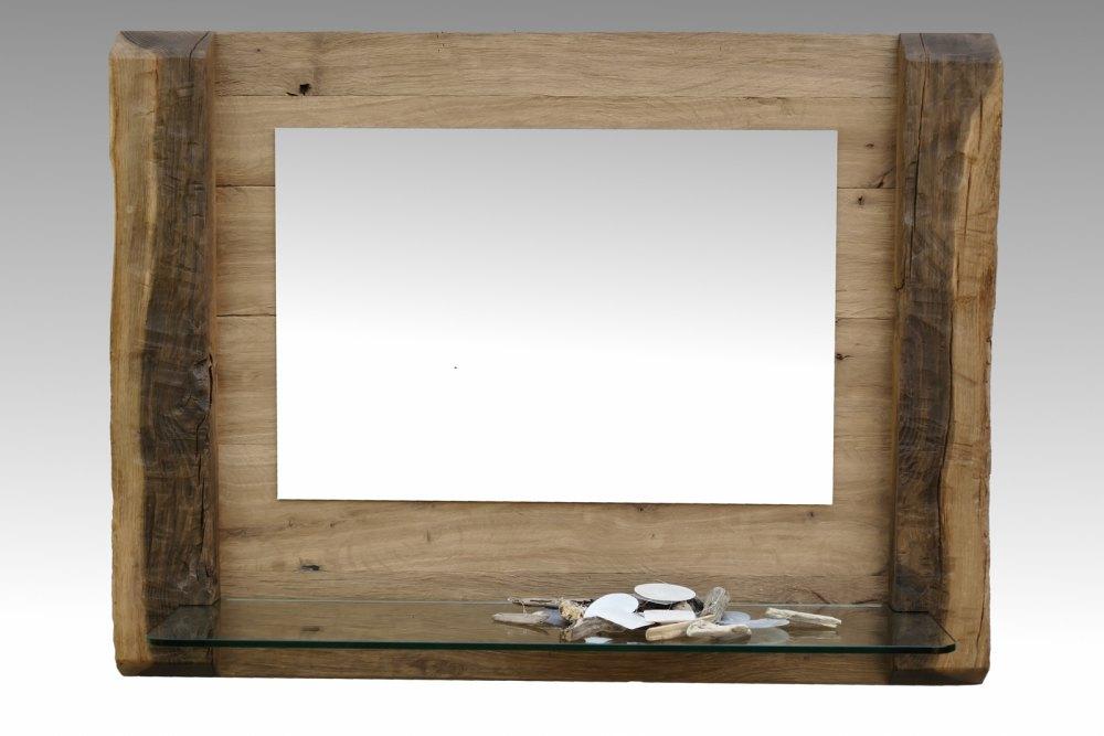 dekorativer spiegel aus altholz eiche altholzmoebel. Black Bedroom Furniture Sets. Home Design Ideas